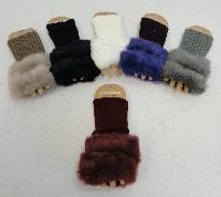 Knitted Hand Warmers [Plush Trim]